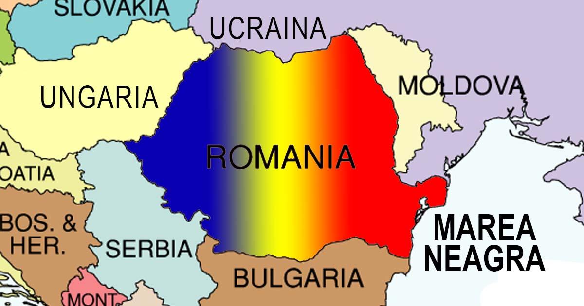 Vecinii Romaniei Harta Romaniei Si Vecinii