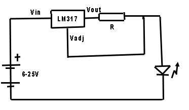 sursa de curent constant LM317